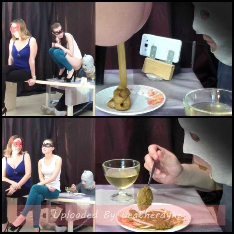 2 mistresses cooked a delicious shit breakfast for a slave with Smelly Milana - femdom scat, toilet slavery | Full HD 1080p | April 10, 2018