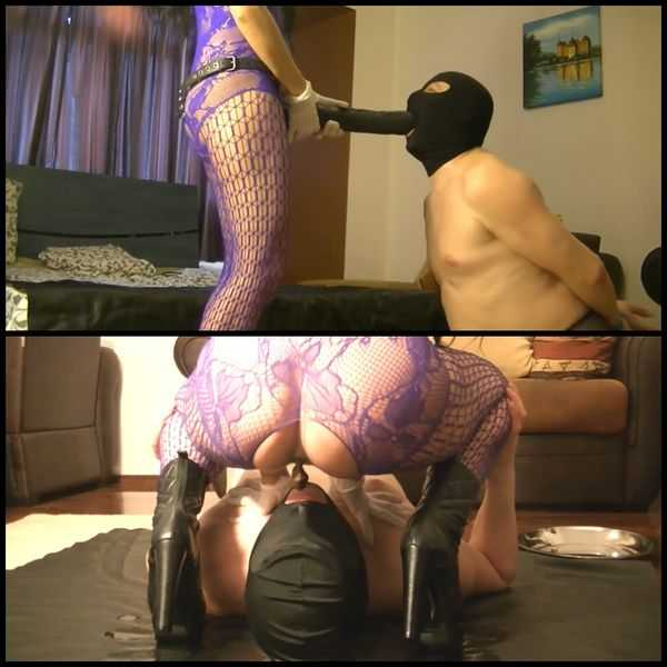 (23.02.2017) Silicone Goddess pissing and shitting in slave mouth - scat porn, scat femdom