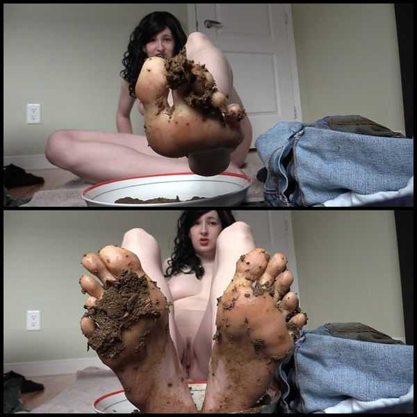 Eat my shit off my feet Foot fetish scat slave - scat porn, scat solo
