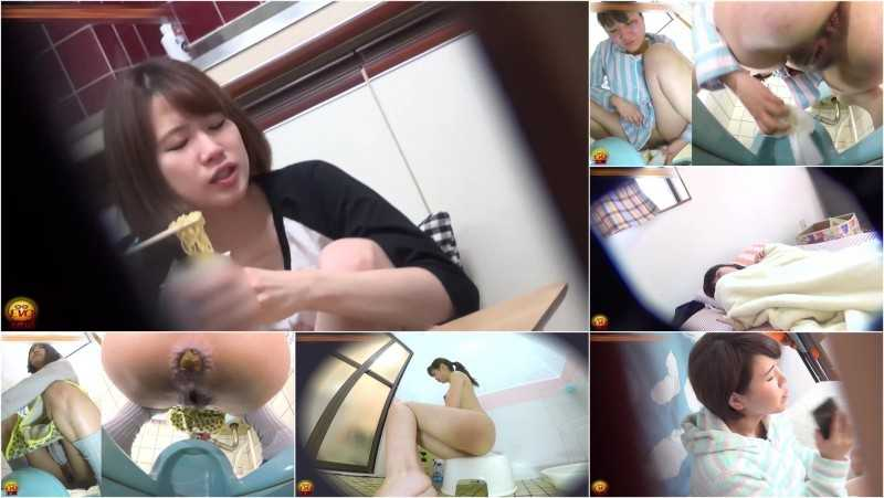 EE-218 [#1] | Dormitory's Japanese style toilet secrets: female students caught pooping on hidden cam. VOL. 3