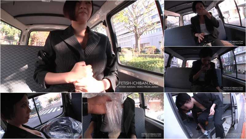 FTV-10 | Woman in suit puking on herself in a moving car.