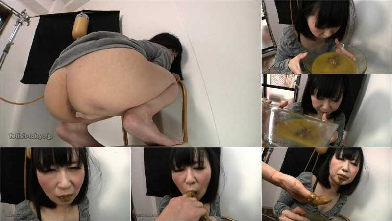 FTV-28 | Shy girl drinking dirty enema and chewing own shit.