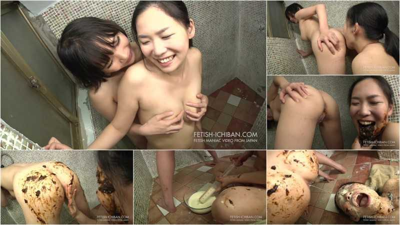 FTV-77 | Girl pooping and releasing massive milk enema in the other girl's mouth and on her face.