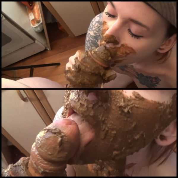 Giant Load of Creamy Shit with Blowjob - scat porn, scat orgies