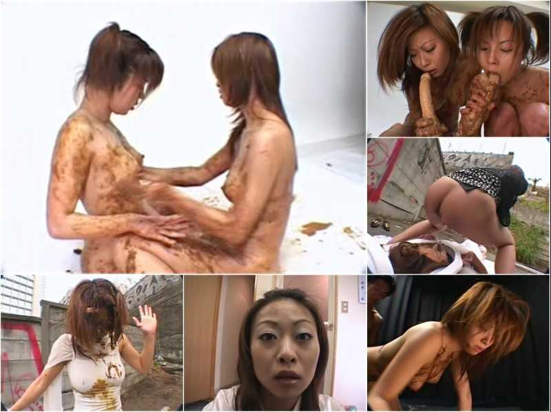 GMD-003 | Kondou Reina doing outdoor lesbian scat gangbang with female strangers and group scat and enema fucking.