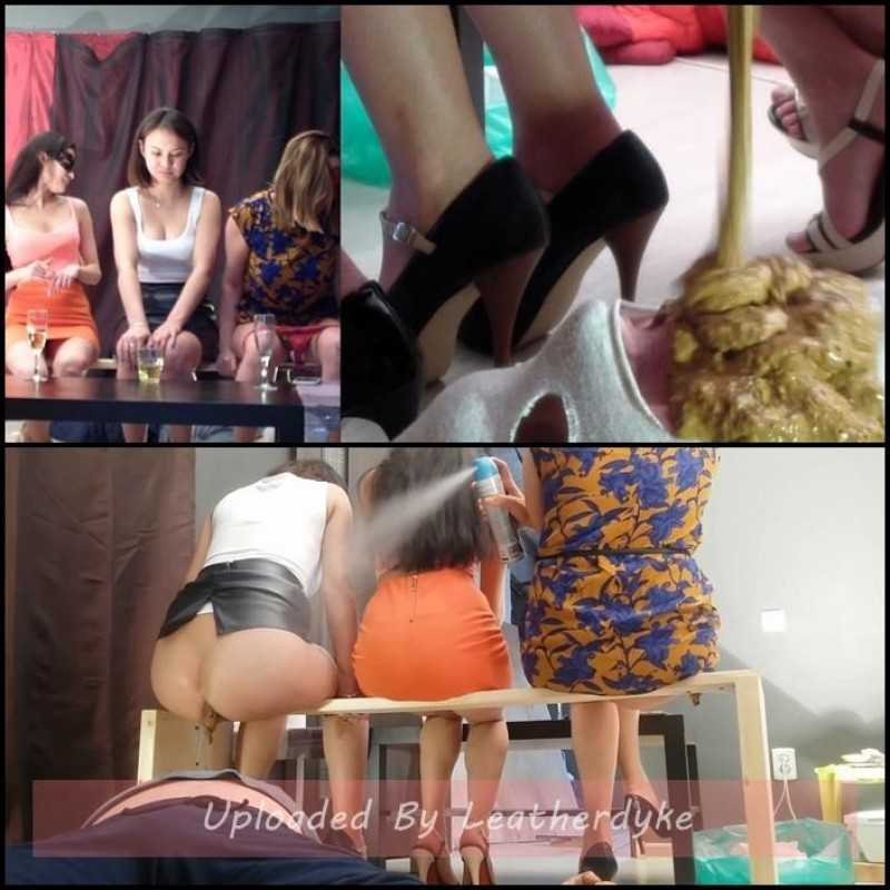 Group use of female toilet slave with MilanaSmelly