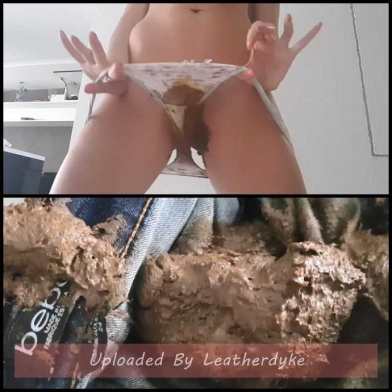 Huge Poop In Jeans with Love to Shit Girls - panty pooping, scat porn | Full HD 1080p | April 7, 2018