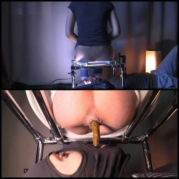 Mistress Jenny takes a dump in her slaves mouth - scat porn, scatology
