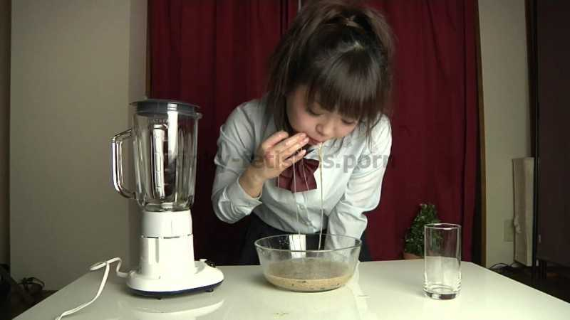 Porn online UNKW-021 | Amo Kusakari puking in a glass bowl, making herself a vomit cocktail and drinking it. javfetish