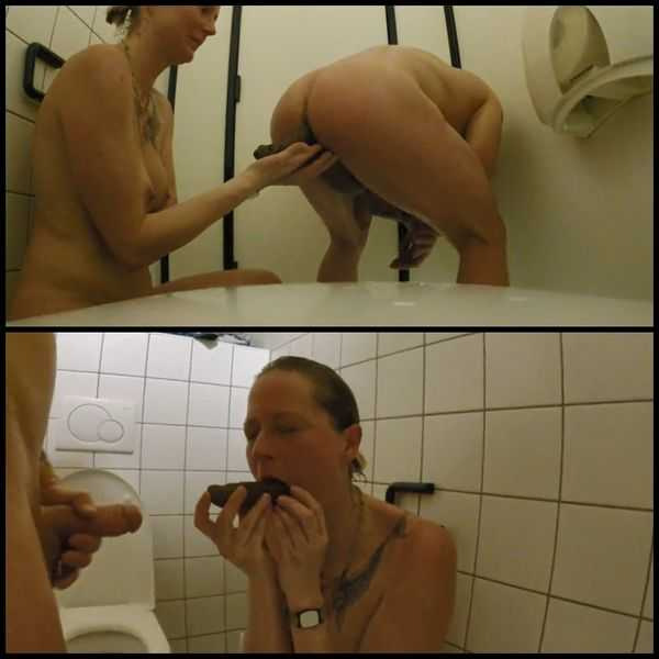 Shit snack on the sauna loo with scatsusan  - scat porn, shitting porn,  Full HD 1080p | Release Year: December 7, 2017