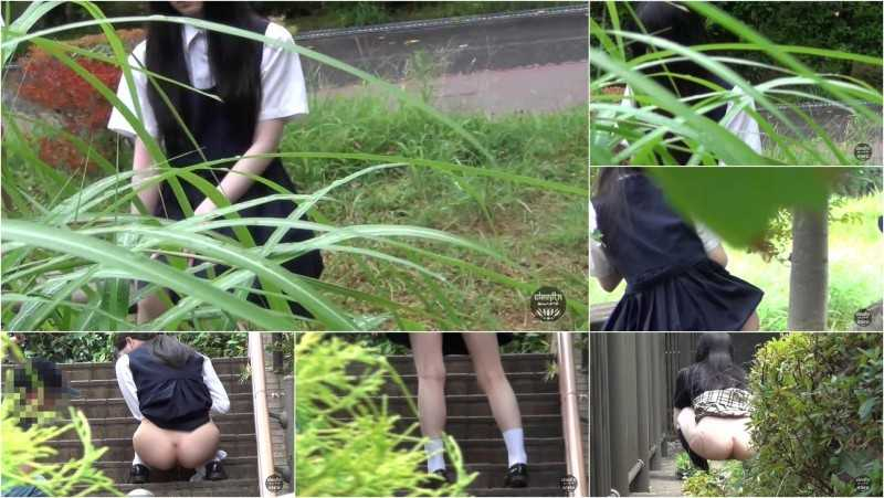 UNKW-016 | She is a scat toy! Shy schoolgirl pooping in front of men.