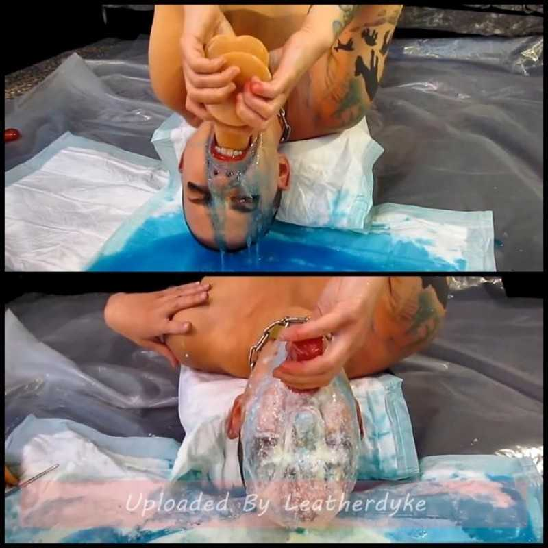 Upside Down Continuous Blue Smurf Vomit with AbigailDupree - Vomiting
